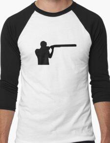 Trap shooting Men's Baseball ¾ T-Shirt