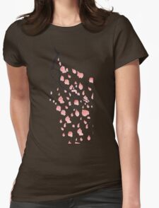Sakura Cherry Blossom Womens Fitted T-Shirt