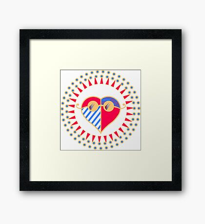 Love is Radically Blind (Color Ver.) Framed Print