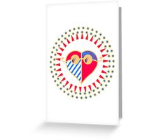 Love is Radically Blind (Color Ver.) Greeting Card