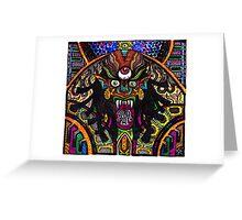 Multichrome Demon  Greeting Card