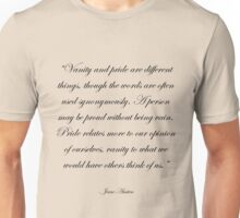 Jane Austen: Pride and Vanity Unisex T-Shirt