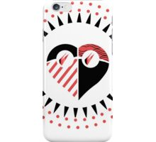 Love is Radically Blind (Black/Red Ver.) iPhone Case/Skin