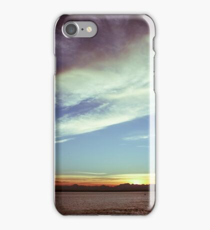 Sunset over the Puget Sound iPhone Case/Skin
