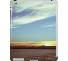 Sunset over the Puget Sound iPad Case/Skin