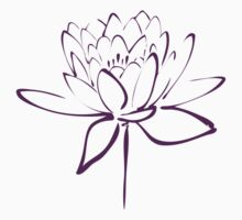 Lotus Flower Calligraphy (Purple) Baby Tee