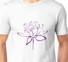 Lotus Flower Calligraphy (Purple) Unisex T-Shirt