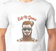 Hipster with huge beard Unisex T-Shirt