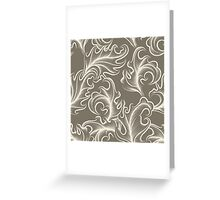 Victorian leaves Seamless pattern Greeting Card