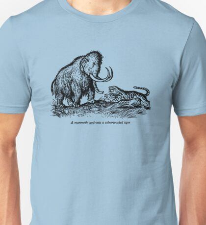 Mammoth confronts a sabre-toothed tiger Unisex T-Shirt