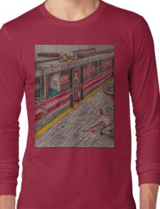 Zombies on the Red Line Long Sleeve T-Shirt