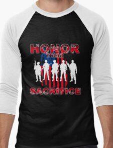 Honor their sacrifice Men's Baseball ¾ T-Shirt