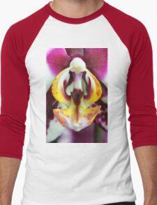 Orchid blur Men's Baseball ¾ T-Shirt