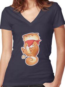 Rude Shiba Dog 6 - Tiny Farts Women's Fitted V-Neck T-Shirt