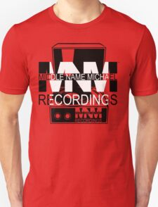 Middle Name Michael Recordings™ (Portable Phonograph) (FFFFFF; 000000) T-Shirt
