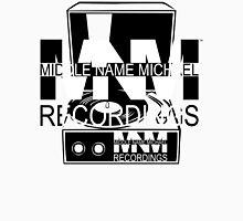 Middle Name Michael Recordings™ (Portable Phonograph) (FFFFFF; 000000) Unisex T-Shirt