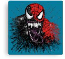 spiderman venom mash up Canvas Print