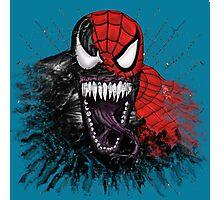 spiderman venom mash up Photographic Print