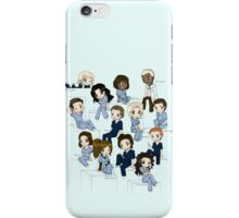 Grey's anatomy- cartoon cast iPhone Case/Skin