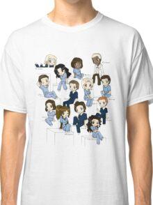 Grey's anatomy- cartoon cast Classic T-Shirt