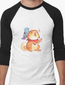 Rude Shiba Dog 1 - Food Consumed Men's Baseball ¾ T-Shirt