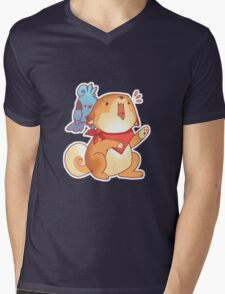 Rude Shiba Dog 1 - Food Consumed Mens V-Neck T-Shirt