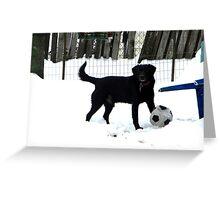 Snow Soccer Greeting Card