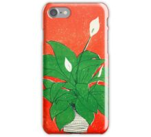 Peace Lily Litho iPhone Case/Skin