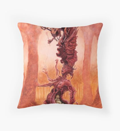 The Snarling Universe Throw Pillow