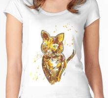 Bokeh Kitty Women's Fitted Scoop T-Shirt