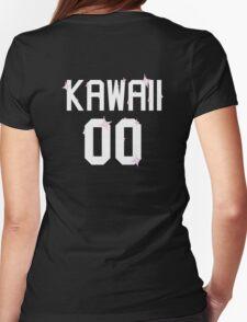 Kawaii Jersey Style Shirt Womens Fitted T-Shirt