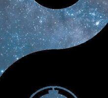 Star Wars Yin Yang - Blue Galaxy Sticker