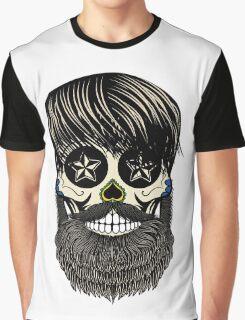 Sugar skull with beard Graphic T-Shirt