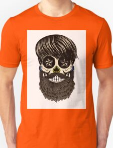 Sugar skull with beard T-Shirt