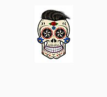 Sugar skull with hair Unisex T-Shirt