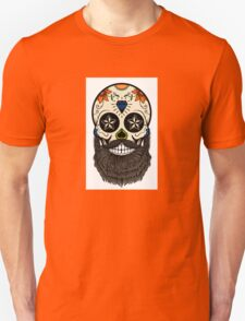 Sugar skull with beard. T-Shirt