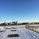 Copenhagen Harbour in Bright Sun and Snow by HeklaHekla