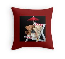 Bear's Holiday Pillow Throw Pillow