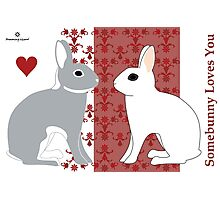 Somebunny Loves You Photographic Print