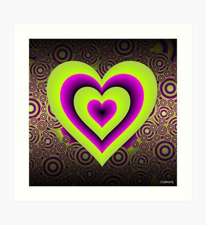 Expanding Heart Art Print