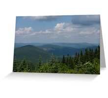 Just Climb the Mountain and Breathe Deeply Greeting Card