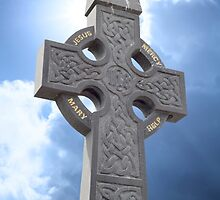 celtic cross head stone by morrbyte