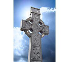 celtic cross head stone Photographic Print