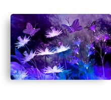 Midnight in the enchanted garden Canvas Print