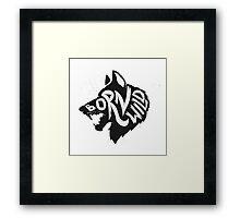 Born Wild Framed Print