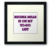 Regina Mills - To-Do List Framed Print
