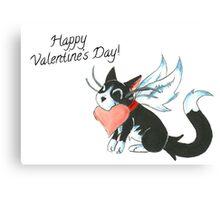 Cupid Kitty Canvas Print