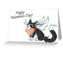 Cupid Kitty Greeting Card
