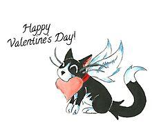 Cupid Kitty Photographic Print