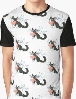 Cupid Kitty Graphic T-Shirt